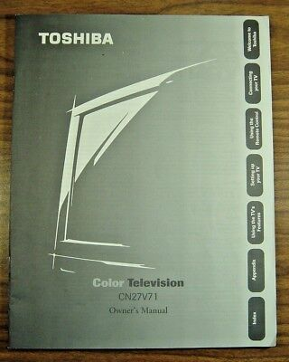 TOSHIBA Color TV OWNERS MANUAL CN27V71  USA