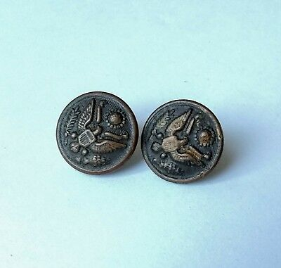 2 Vintage Military Army Uniform Brass Buttons The Art Metal Works
