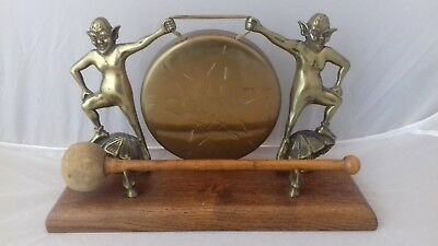 Vintage MidC Devon Cornish Pixie Brass Table Dinner Gong Dartmoor Bodmin England