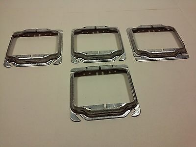 """Mulberry 11240 Device Covers Raised 1/2"""" From 4"""" Sq Boxes To 2 Devices(Lot of 4)"""