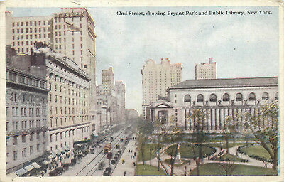 United States New York 42nd street showing Bryant Park and Public Library