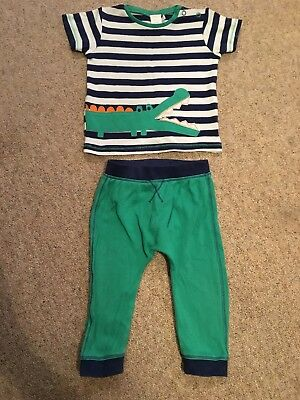 Baby Boys Boots Mini Club 9-12 Months Green & Blue Crocodile Outfit