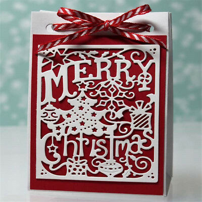 Christmas card metal cutting dies stencil scrapbooking embossing album decor*FD