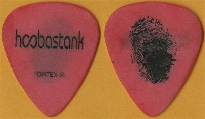 Hoobastank Dan Estrin authentic 2006 tour custom stage band red Guitar Pick