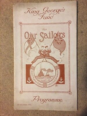 WW1 King Georges Fund Our Sailors Programme 1917 Central Hall Westminster London