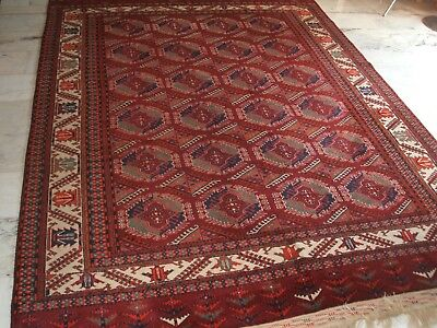 Old Russian  Jamod Carpet Rug Russischer Turkmenen Yomuth Teppich Tapis Perfetto