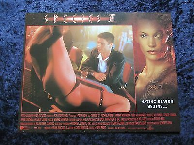 SPECIES lobby card #6 JUSTIN LAZARD, NATASHA HENSTRIDGE, SPECIES 2