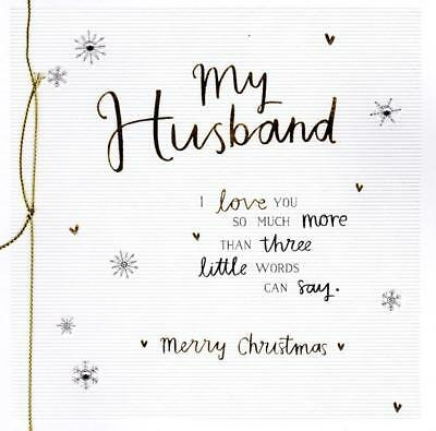 Husband Christmas Cards.My Husband Christmas Greeting Card Embellished Special Xmas Cards
