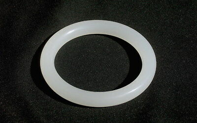 Top-Quality Antique Chinese White Peking Glass Bangle, Look and Feel of Jade