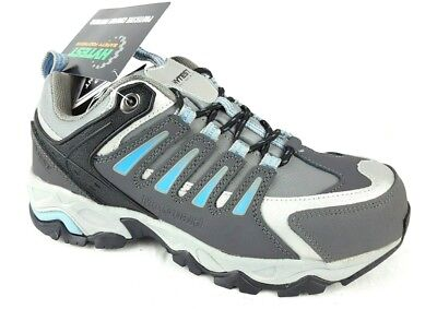 fa9e3825fc08c HYTEST WOMENS ATHLETIC Steel Toe Lace Up Work Shoes EH Gray Size 6.5 M  K17116
