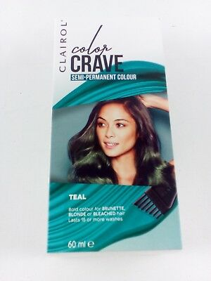 Clairol Colour Crave Semi Permanent Hair Dye Teal Green 420