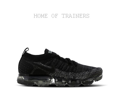 Nike Air Vapormax Flyknit Black Dark Grey Anthracite Men s Trainers All  Sizes b5e34a758