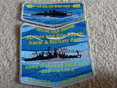 Boy Scout Ho De No Sau Nee 159 Navy Sea New York GNF Council 2018 NOAC Patch Set