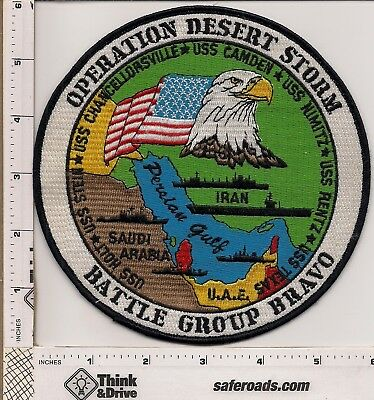 U.S.Military. Desert Storm Jacket patch. large 6 inch Patch. Battle Group Bravo.