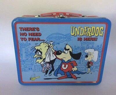 Rare Collectible There's No Need To Fear... Underdog Is Here! Tin Lunch Box