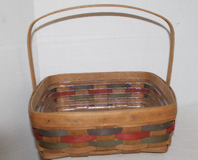 1987 Longaberger Easter Single Pie  Basket,  Signed By Dave, Protector, Card!