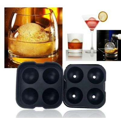 US Whiskey Ice Cube Round Ball Maker Mold Tray Sphere Mould Cocktails Party Bar