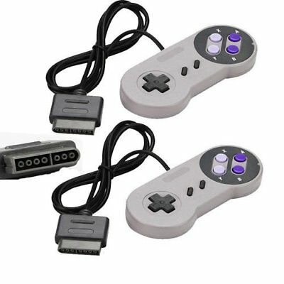 Lot 2 16 Bit Controller for Super Nintendo SNES System Console Control Pad NEW