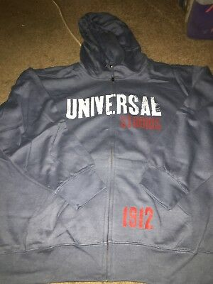 Universal Studios Adult XL Logo Hoodie Sweat Shirt NWOT Orlando Hollywood 1912