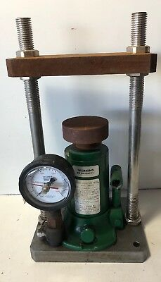 Carver Laboratory Press Model 2867-X With Gauge, Max Dam Stroke 5-1/8""