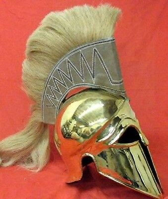 Medieval Viking Corinthian Greek Brass Finish Roman knight Spartan helmet