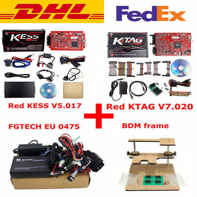 EU Red Kess V2 V5.017 + KTAG V7.020 24 LED+EU 0475 FGTECH Galletto 4 +BDM Frame