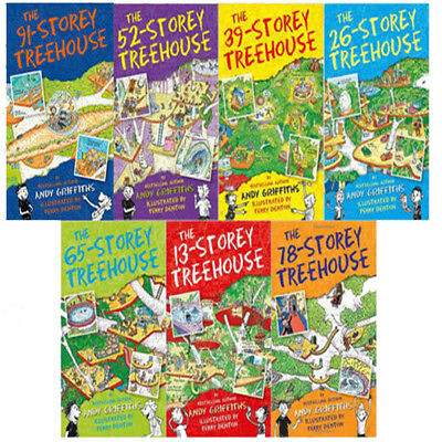 13-Storey Treehouse Series Collection 7 Books Set By Andy Griffiths BRAND NEW