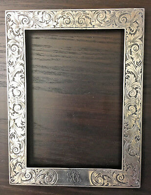 Antique Gorham Sterling Silver Art Nouveau Design Picture Frame 1910