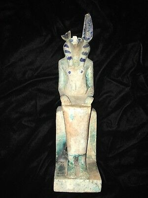 RARE ANCIENT EGYPTIAN ANTIQUE Solid Statue God Anubis  2686 Bc