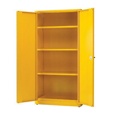 Hazardous Substance Storage Cabinet 72x36x18 inch c/w 3 Shelf Yellow 188736