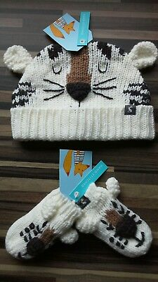 💟baby Boys**joules**matching Tiger  Hat & Gloves Set**6-12 Months**bnwt**