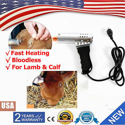 Cattle Head Dehorner Electric Iron Bloodless Fast Heating For Calf Lamb Chamfer