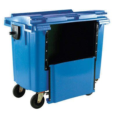 Blue Wheeled 770 Litre Bin With Drop Down Front 377965