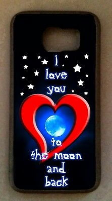 I LOVE YOU TO THE MOON & and BACK CELL PHONE CASE cel COVER for smart mobile