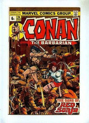 Conan the Barbarian #24 - Marvel 1973 - FN- - Pence - 1st Full Red Sonja Story
