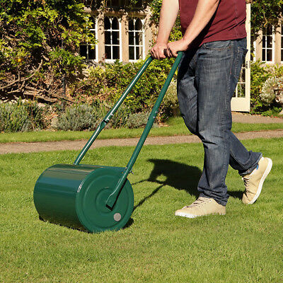 OUTDOOR GARDEN STD /& LRG HEAVY DUTY LAWN GRASS ROLLER SEED WATER SAND FILLED