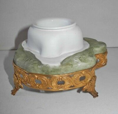 EARLY 20th CENTURY PORCELAIN BISCUIT MOUNTED PLANTER MARQUISE DE SEVIGNE NORITAK