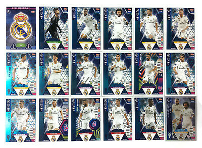 2018 2019 Topps Match Attax Champions League REAL MADRID set of 18 cards WINNERS