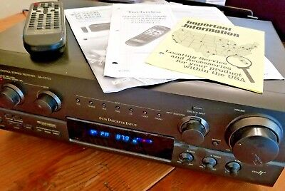 TECHNICS SA-AX720 5 1-CHANNEL Audio/Video Stereo Receiver/Remote/Manuals  Bundle