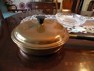 Vintage Copper and Stainless Frying Pan with Lid