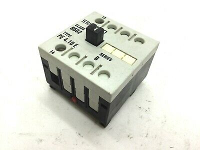 Square D Class 8502 PE 4.10 E Auxiliary Contact Voltage 600VAC, Amperage 12A