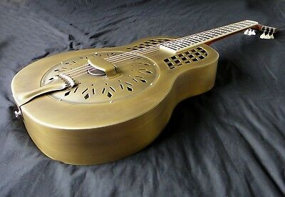 Duolian Resonator Guitar - 'Antique' Brass Body