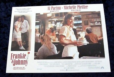 FRANKIE and JOHNNY lobby card  # 4 AL PACINO, MICHELLE PFEIFFER