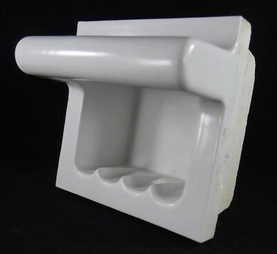Antique Vintage Fairfacts BiltIn F-152 White Tub Soap Dish with Bar 1920's