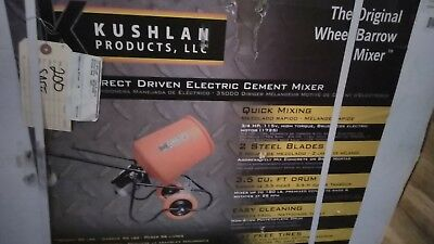 Kushlan Professional 3.5CF Portable Electric Direct Drive Cement Mixer-#350DD