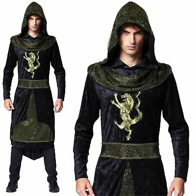 Halloween Medieval Prince Knight Assasin One Size Mens Fancy Dress Costume Adult