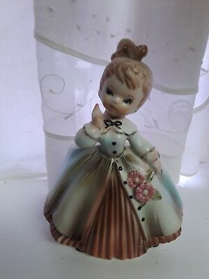 Vintage Southern Bell Girl Planter 1963 Inarco Cleve Ohio  E-871
