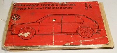 Original Vintage Owners Manual for a 1975 Volkswagon Rabbit!