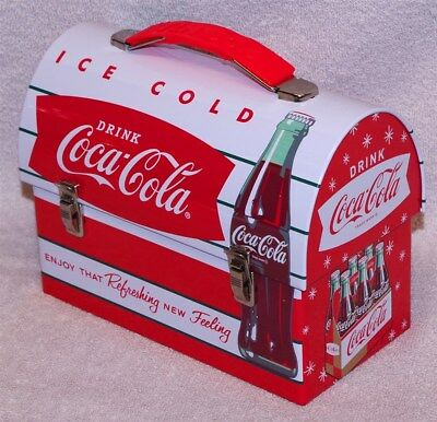 """Coca-Cola """"enjoy That Refreshing New Feeling"""" Workmans Carry-All Lunch Box, New"""