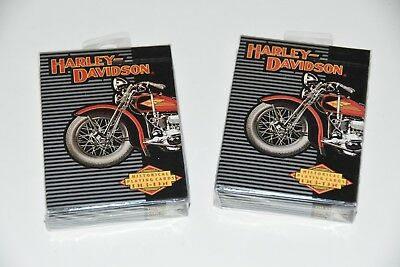 2 New 1997 HARLEY DAVIDSON Motorcycles Anniversary Decks Playing Cards 1903-1950